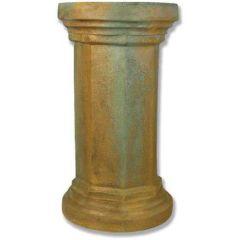 Hex Column Fiber Stone Pedestal