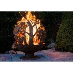 Autumn Leaf Fire Pit Globe