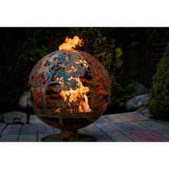 Wildlife Forest Fire Pit Globe
