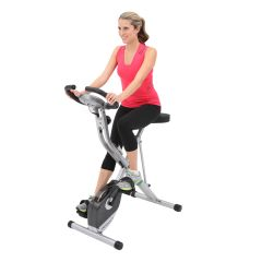 Folding Exercise Bike with Pulse Reader