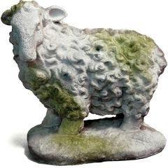 Scottish Sheep Fiber Stone Statue