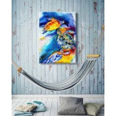 Weatherproof Canvas Art - Turtle Play