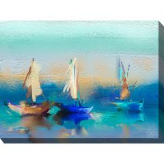 Weatherproof Canvas Art - Cerulean Sea