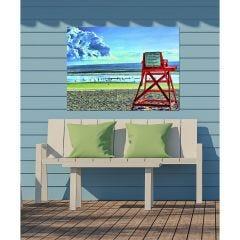 Weatherproof Canvas Art - Guard Chair
