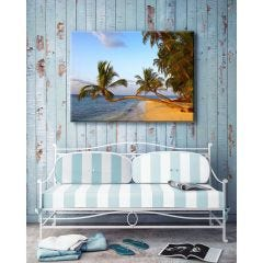 Weatherproof Canvas Art - Golden Palms