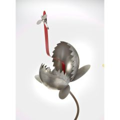 Large Hand-Crafted Metal Garden Venus Fly Trap