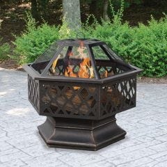 Lattice Wood Burning Fire Pit