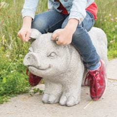 Pig Garden Bench
