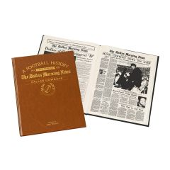 Personalized Football Newspaper Book