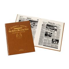 Personalized Baseball Newspaper Book