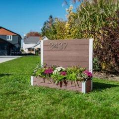 Urbana Address Sign Planter