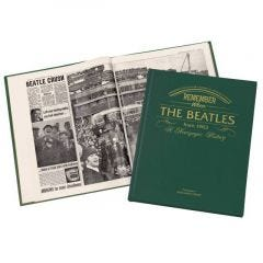 Personalized Newspaper Headline Book – Beatles Biography