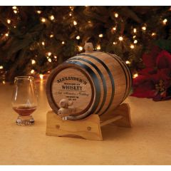 Personalized Oak Barrel Whiskey Kit