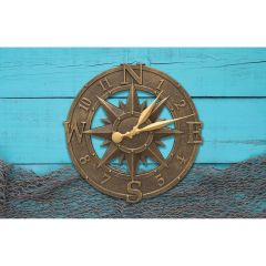 "Compass Rose 16"" Indoor/Outdoor Clock"