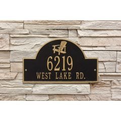 Personalized Adirondack Arch Plaque