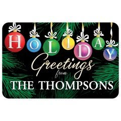 Personalized Holiday Floor Mat