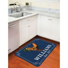Personalized Rooster Floor Mat