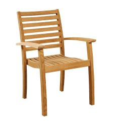 Royal Stacking Teak Armchairs (Set of 4)