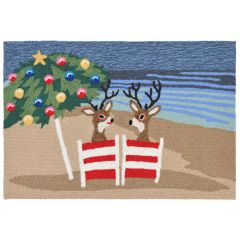 Lifestyle Indoor/Outdoor Porch Rug – Coastal Christmas
