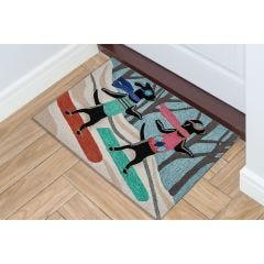 Lifestyle Indoor/Outdoor Porch Rug – Daschund through the Snow