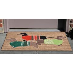 Lifestyle Indoor/Outdoor Porch Rug – Holiday Hounds