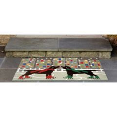Lifestyle Indoor/Outdoor Porch Rug – Holiday Ice Dogs