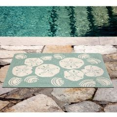 Lifestyle Indoor / Outdoor Porch Rug – Shell Toss
