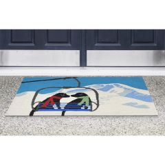 Lifestyle Indoor/Outdoor Porch Rug – Ski Lift Love