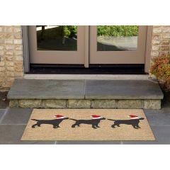 Lifestyle Indoor/Outdoor Porch Rug – Three Dogs Christmas