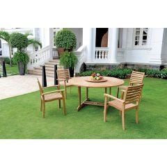 Royal Bistro Teak Set (Table and Set of 4 Chairs)