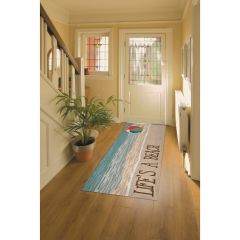 Lifestyle Indoor / Outdoor Runner Rug – Life's A Beach