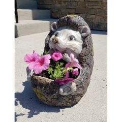 Wooden Hedgehog Planter