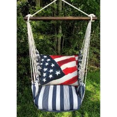 Marina Chair w/American Flag Pillow