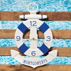 Personalized Anchor Buoy Clock