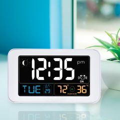 Easy Read Digital Clock with Indoor Temperature