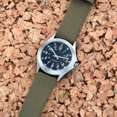 Rugged WWII Military Watch with Olive Band