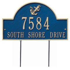 Anchor Lawn House Marker (Standard)