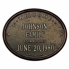 Family Established House Marker (Wall)