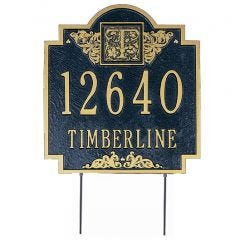 Monogrammed Estate House Marker (Lawn)