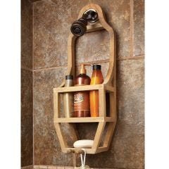 Teak Slim Shower Organizer