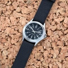 Rugged WWII Military Watch (black band)