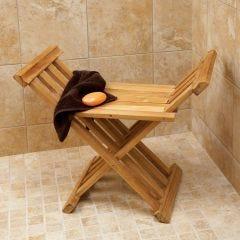 Deluxe Teak Bath Stool