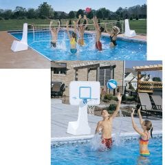 Pool Volleyball   Basketball Combo Game
