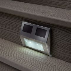Solar Powered Metal Deck Lights (set of 4)