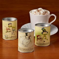 Snowman Family Cocoa mixes (three, 2½ ounce tins)