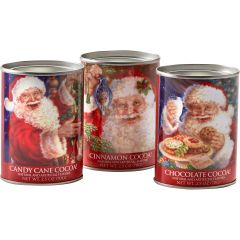Santa Cocoa Set (three, 2½ ounce tins)