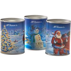 White Christmas Cocoa Set (three, 2½ ounce tins)