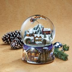 Musical Snow Globe with Moving Train and Santa