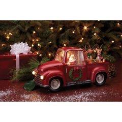 Santa's Red Truck Snow Globe