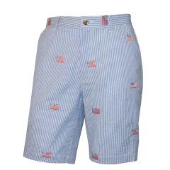 American Flag Seersucker Shorts